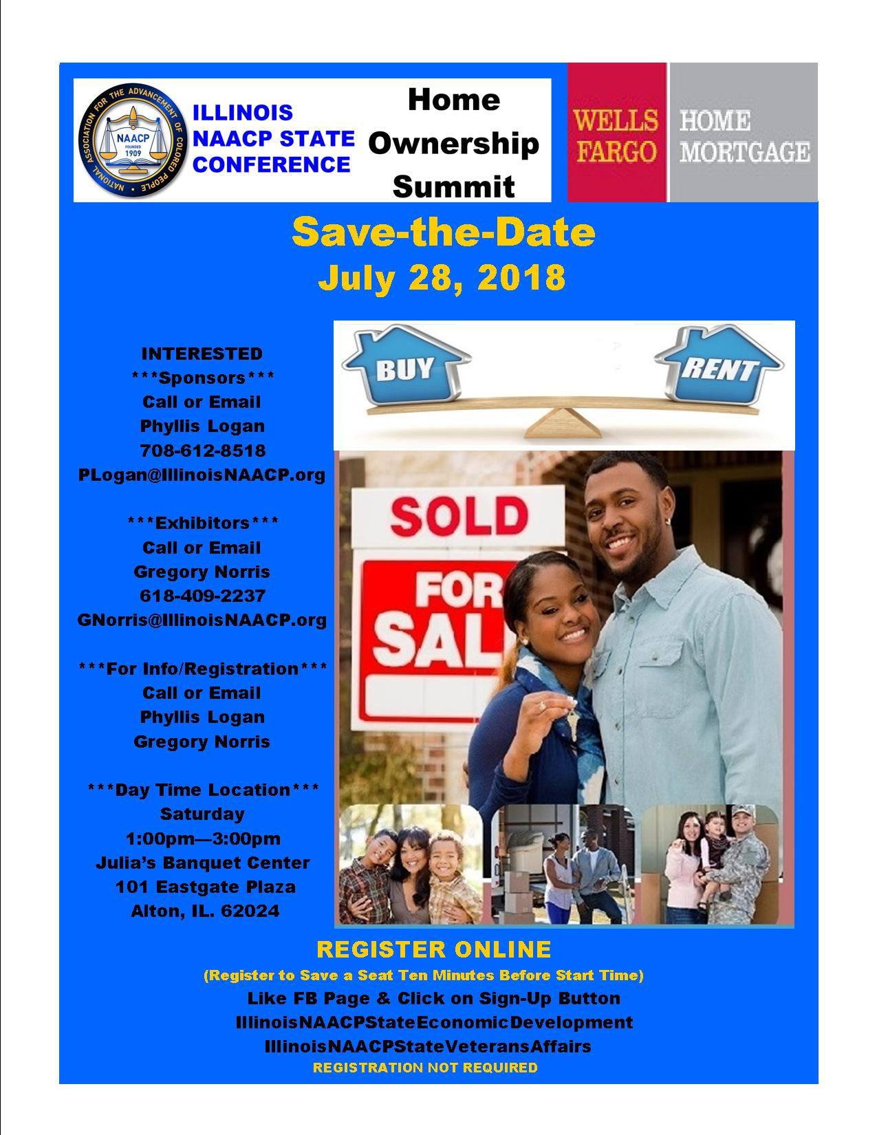 NAACP Save the Date Home Ownership 2018